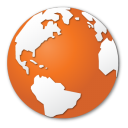 browser, earth, global, globe, international, internet, orange, planet, world icon