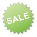 green, label, sale icon
