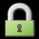 green, lock icon