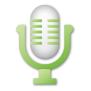 green, microphone