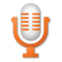 microphone, orange, red