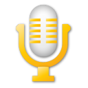 microphone, yellow icon
