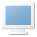 blue, monitor, screen icon