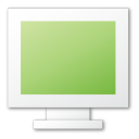 green, monitor icon