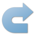 blue, redo icon