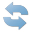 blue, refresh icon