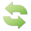 green, refresh icon