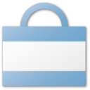 argentina, bag, blue, kirchner, shopping icon