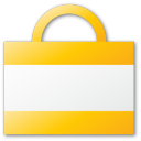 bag, shopping, yellow icon