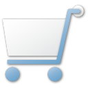 blue, cart, shopping