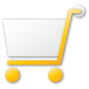cart, shopping, yellow icon