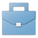 blue, briefcase, career, case, job, suitcase icon