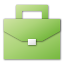 green, suitcase icon