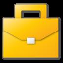 briefcase, career, case, job, suitcase, yellow icon