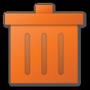 red, trash icon