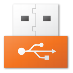red, usb icon