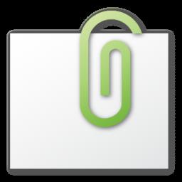 attachment, green icon