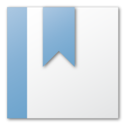 Blue Bookmark Icon