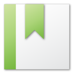 bookmark, green icon