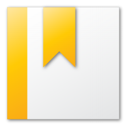 bookmark, yellow icon