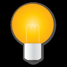 bulb, idea, light, yellow icon