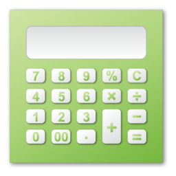 calculator, green icon