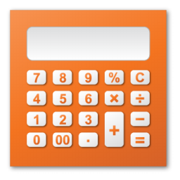 calculator, red icon