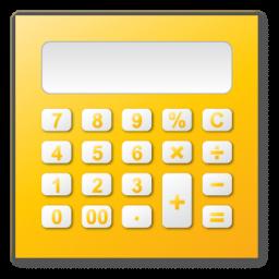 calculator, yellow icon