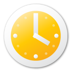 Clock, yellow icon - Free download on Iconfinder