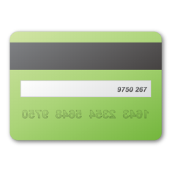card, credit, green icon