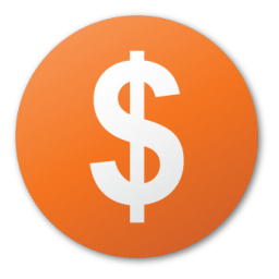 Currency, dollar, funding, investment, red, round icon - Free download