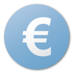 Blue, currency, euro icon - Free download on Iconfinder