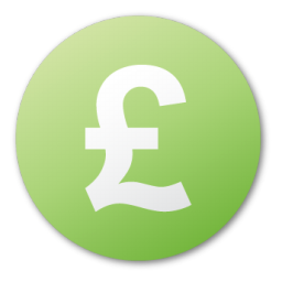 currency, green, pound icon