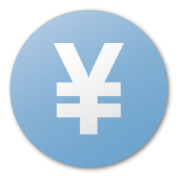 blue, currency, yuan icon