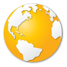 earth, globe, internet, world, yellow icon