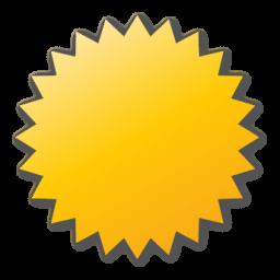label, yellow icon