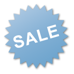 blue, burst, label, sale icon