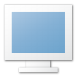 blue, monitor, screen icon
