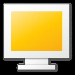 monitor, yellow icon