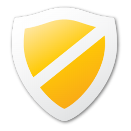 protect, shield, yellow icon