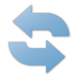 blue, refresh icon