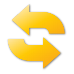 refresh, yellow icon