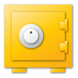 security, yellow icon