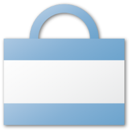 argentina, bag, blue, kirchner, shopping icon