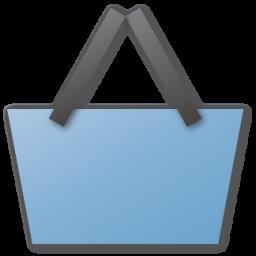 basket, blue, shopping icon