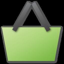 basket, green, shopping icon