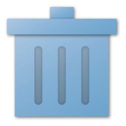 blue, trash icon