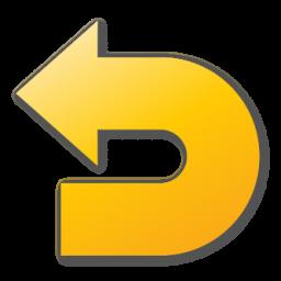 undo, yellow icon