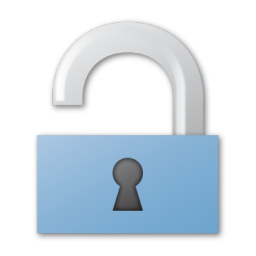 blue, unlock icon