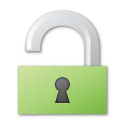 green, unlock icon